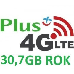 PLUS INTERNET NA KARTĘ iPLUS 30,7 GB 3G/LTE FV ROK
