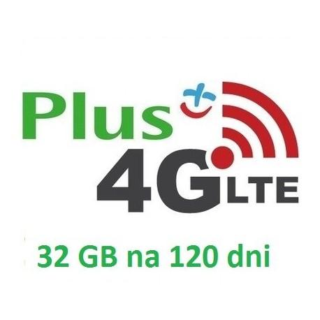 PLUS INTERNET LTE 32 GB 120 dni